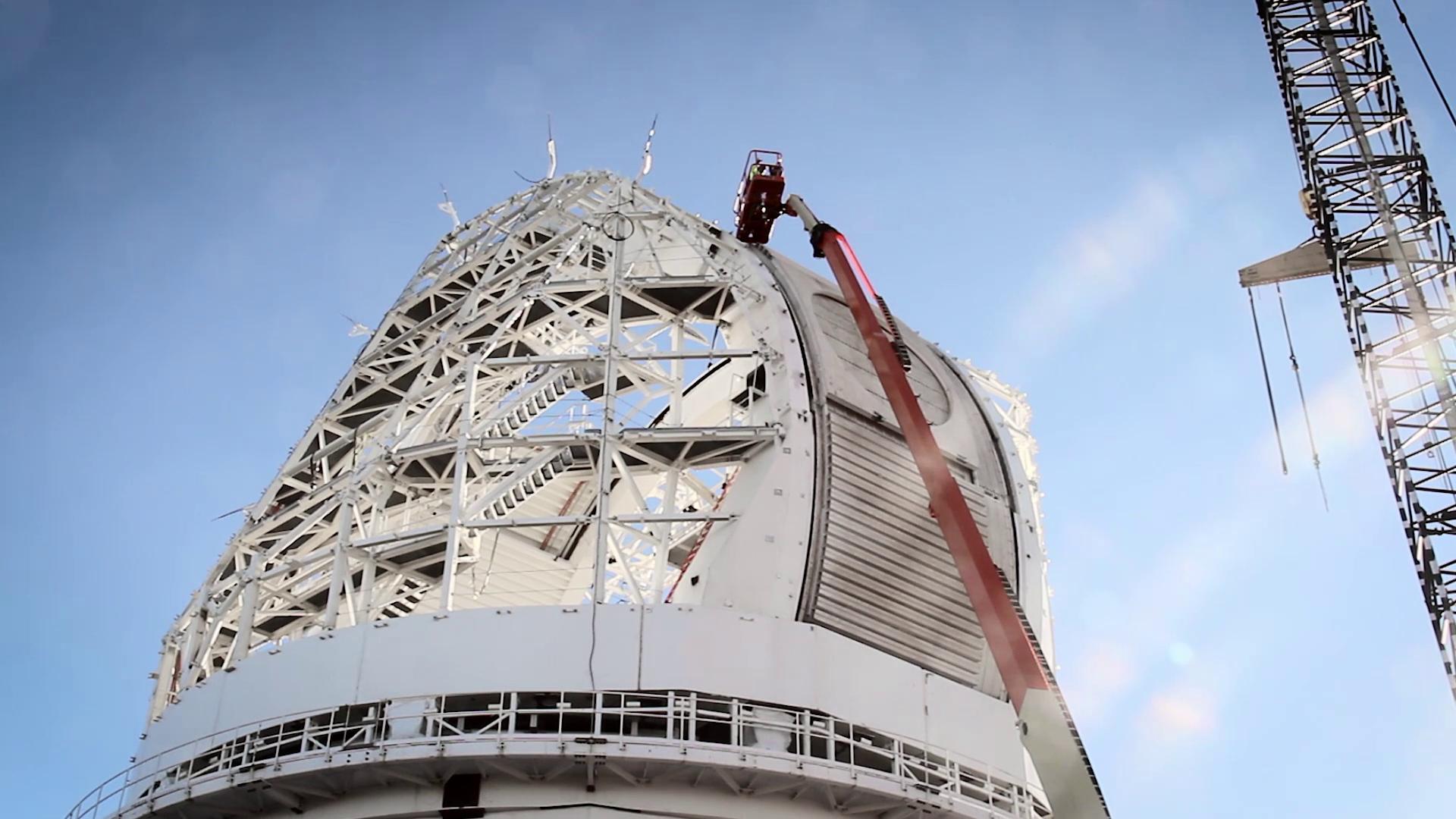 Imagen del telescopio solar DKIST en Hawai en un video para IDOM producido por Old Port Films