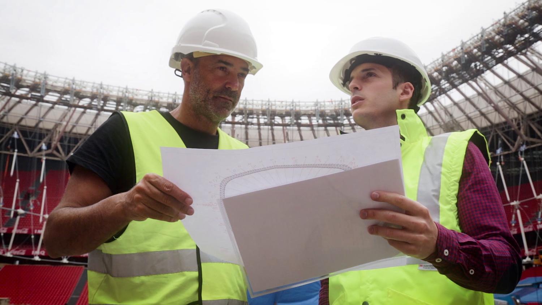 Ingenieros de IDOM trabajando en San Mamés